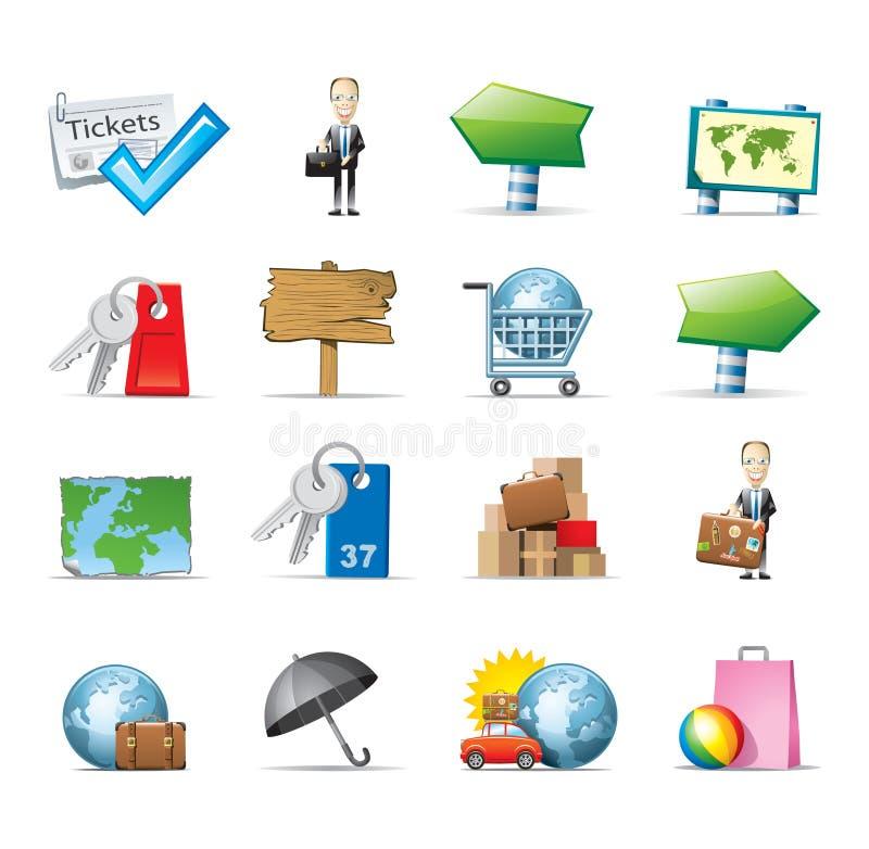 Иконы перемещения иллюстрация вектора