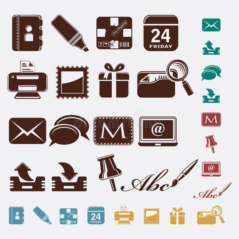 Иконы почтамта бесплатная иллюстрация