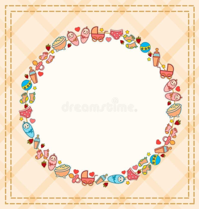 иконы предпосылки младенца иллюстрация штока