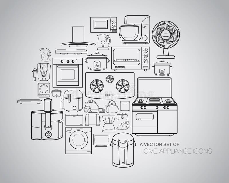 иконы прибора домашние бесплатная иллюстрация