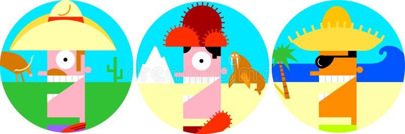 Иконы путешественника стоковое изображение rf