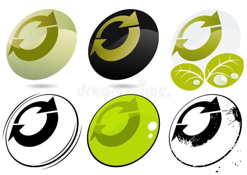 иконы рециркулируют иллюстрация штока