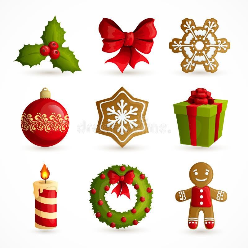 иконы рождества установили иллюстрация штока