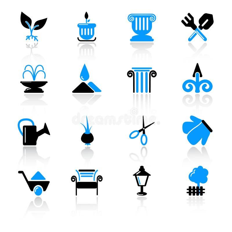 иконы сада иллюстрация штока