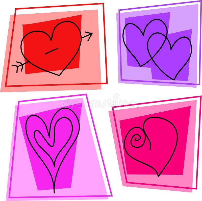 иконы сердца иллюстрация вектора