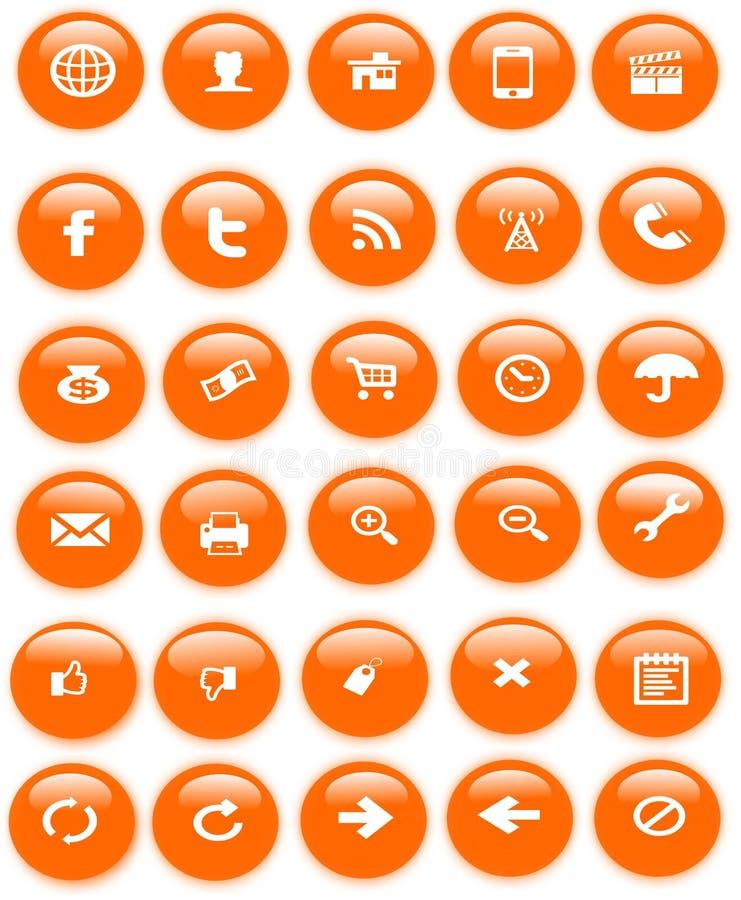 Иконы сети иллюстрация штока