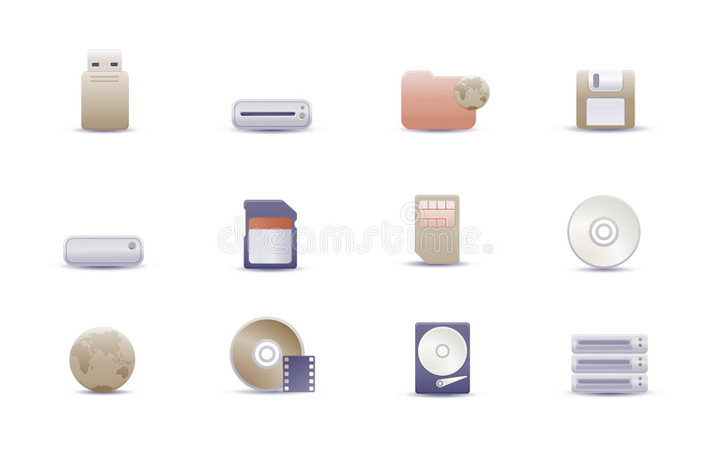 Иконы сети иллюстрация вектора
