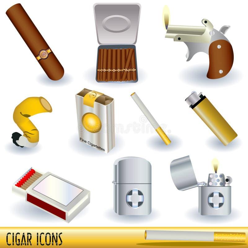 иконы сигары иллюстрация штока