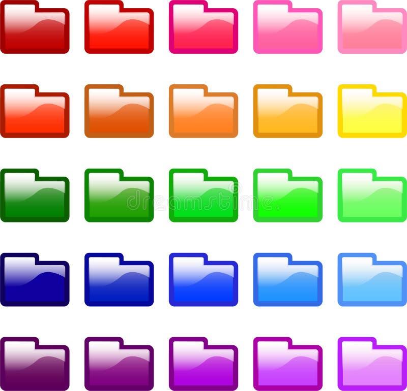 иконы скоросшивателя бесплатная иллюстрация