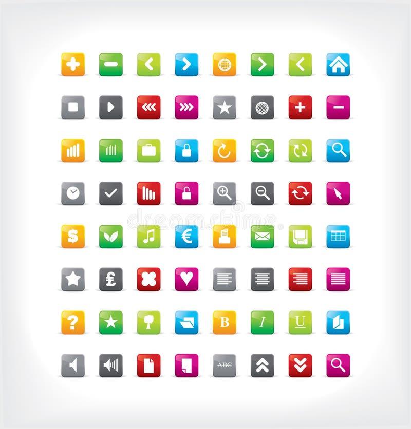 иконы собрания цветастые бесплатная иллюстрация