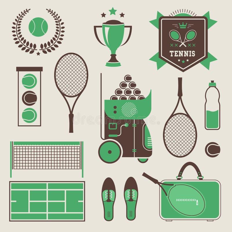 Иконы тенниса вектора иллюстрация штока