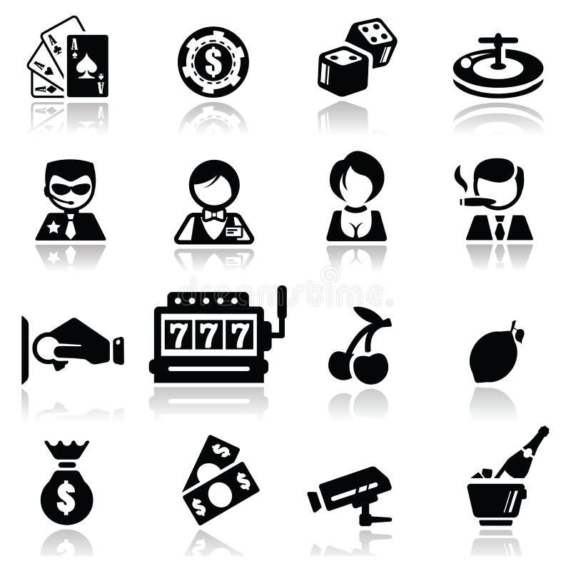Иконы установили казино Стоковая Фотография