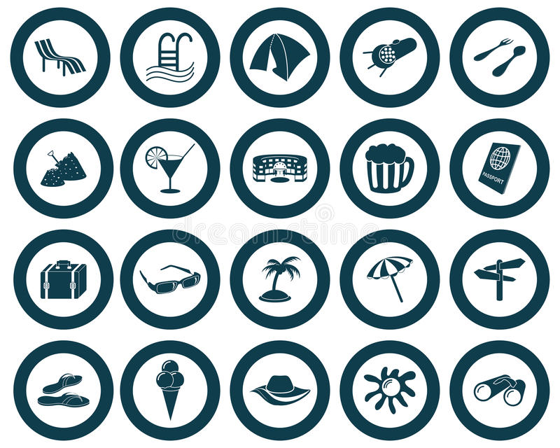 иконы установили перемещение иллюстрация вектора