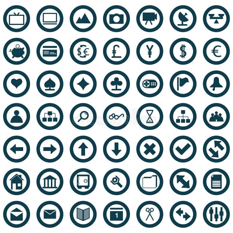 иконы установили сеть иллюстрация штока