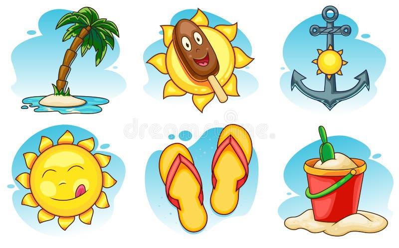 иконы установили лето бесплатная иллюстрация