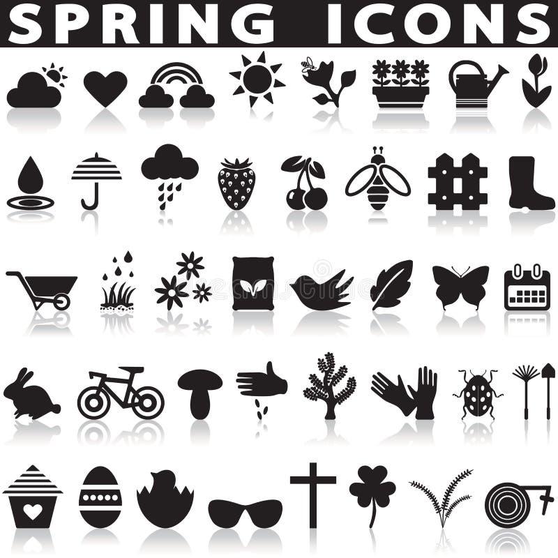 иконы установленные весна бесплатная иллюстрация