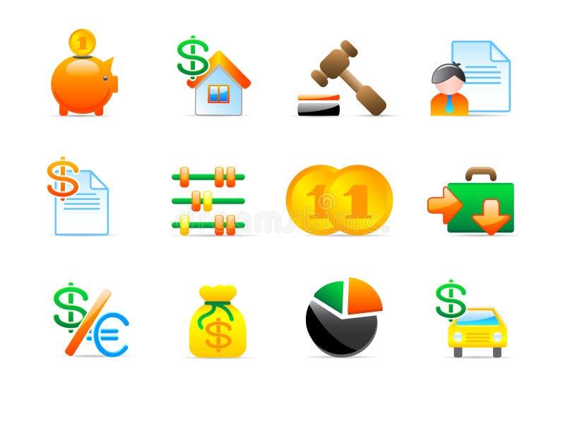 иконы финансов иллюстрация штока