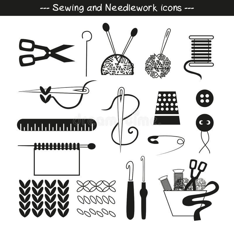 Иконы шить и needlework иллюстрация штока