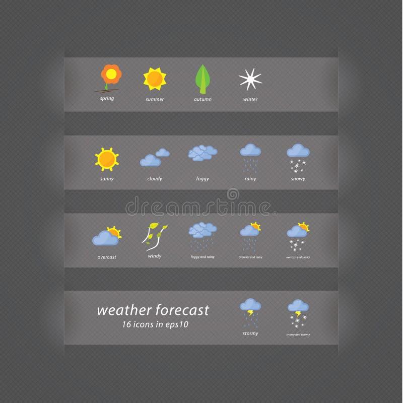 иконы штольни прогноза мои пожалуйста см Значки вектора - стилизованные случаи погоды бесплатная иллюстрация