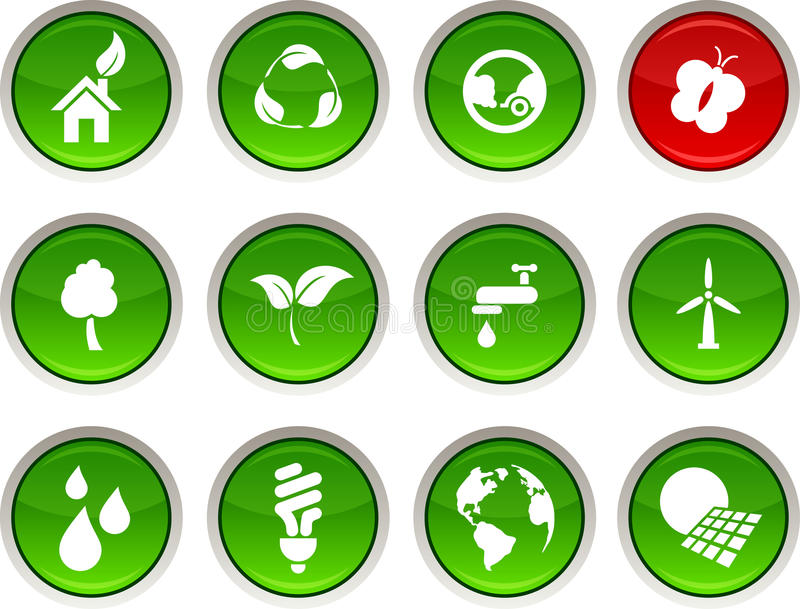 иконы экологичности иллюстрация штока