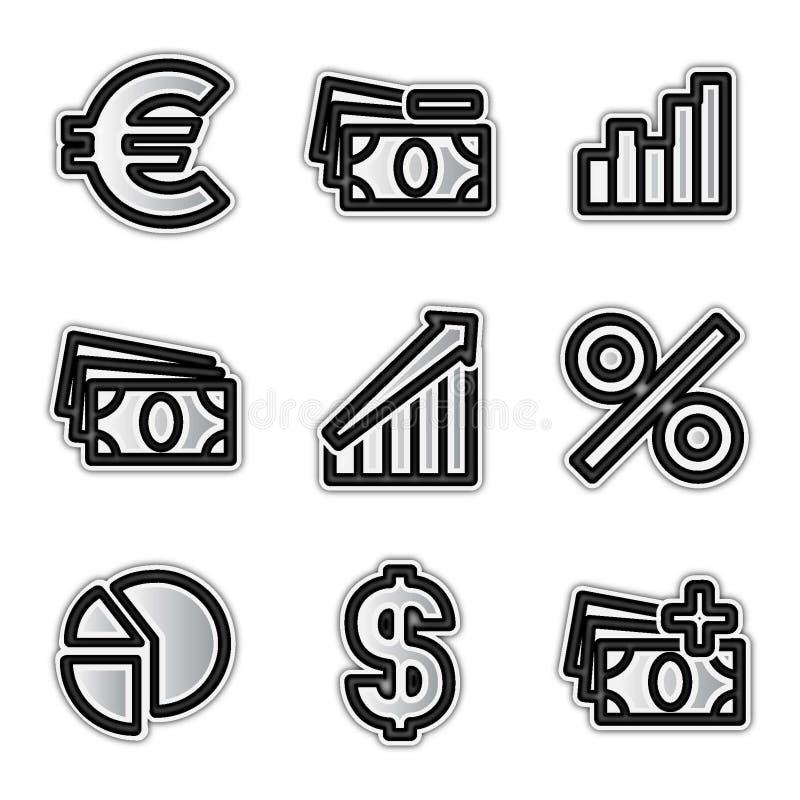 иконы экономии vector сеть иллюстрация вектора