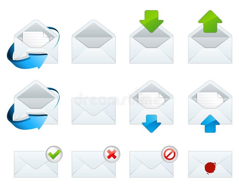 иконы электронной почты бесплатная иллюстрация