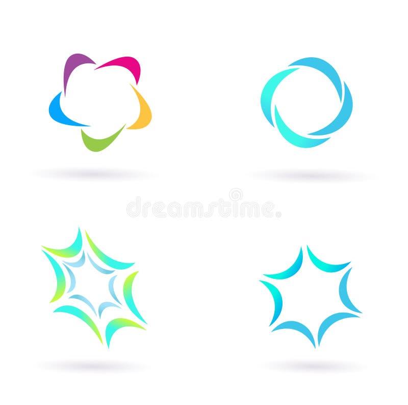 иконы элементов конструкции изолировали белизну иллюстрация вектора