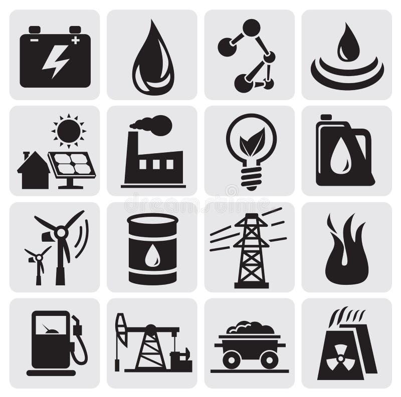 Иконы энергии и силы иллюстрация штока
