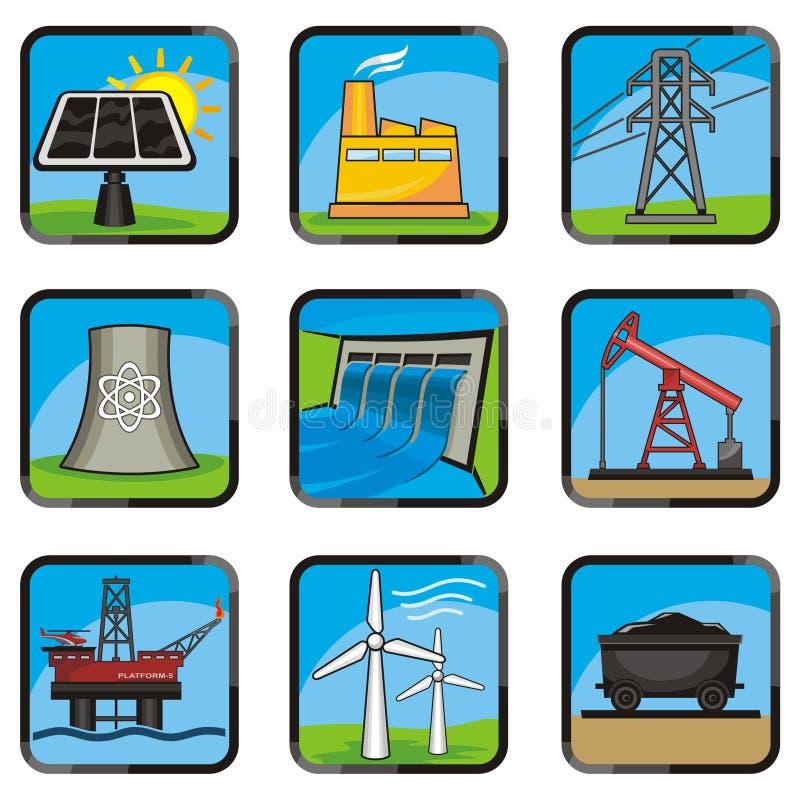 иконы энергии иллюстрация вектора