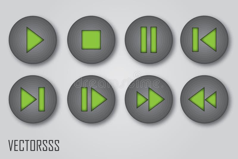 Иконы игрока стоковая фотография