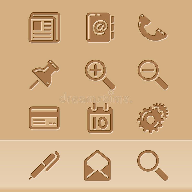 иконы 1 блога иллюстрация штока