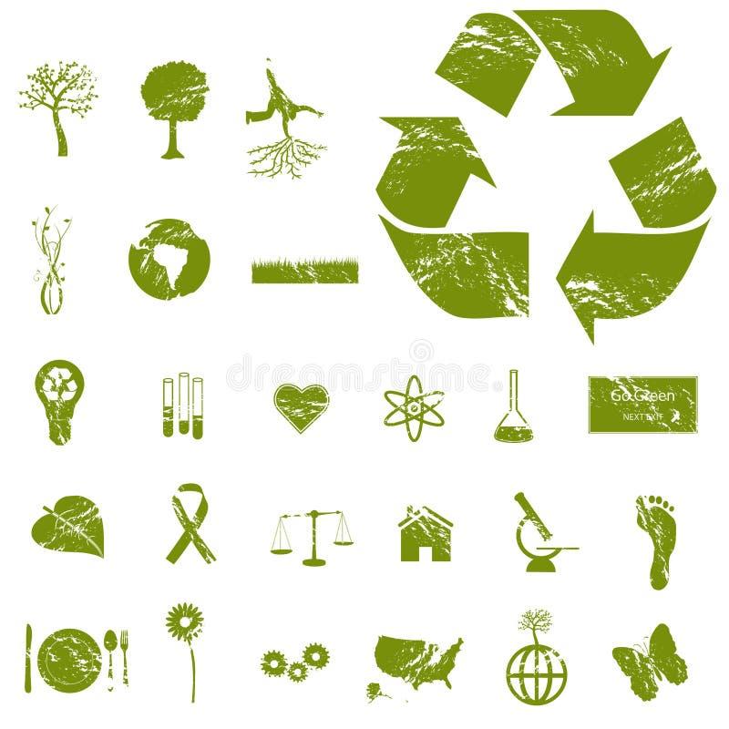 иконы grunge eco бесплатная иллюстрация