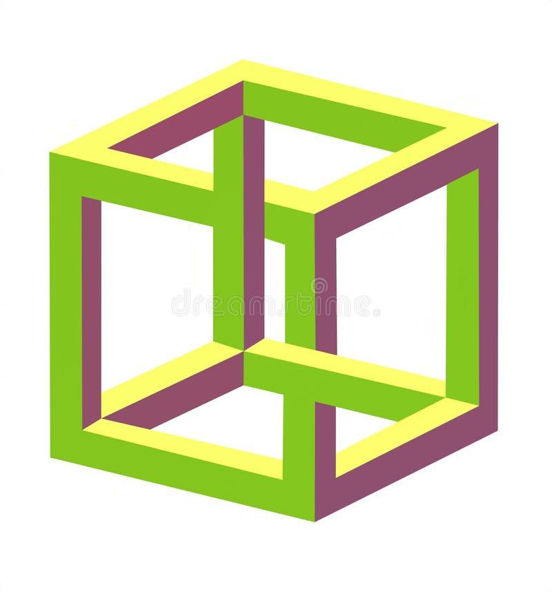 иллюзион оптический иллюстрация штока