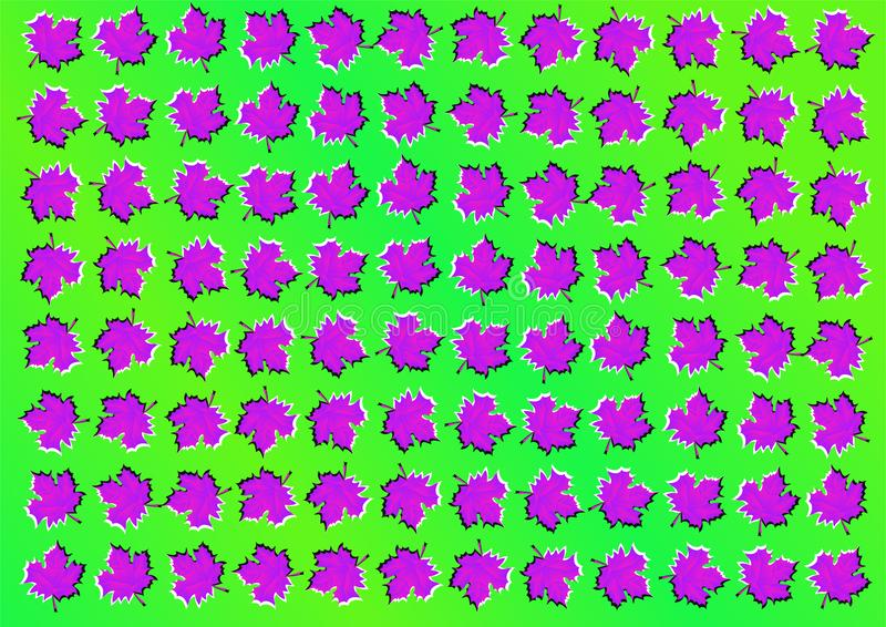 иллюзион оптически абстрактные листья предпосылки иллюстрация штока