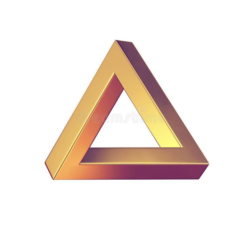 иллюзион оптически Треугольник Penrose изолированный на белизне бесплатная иллюстрация
