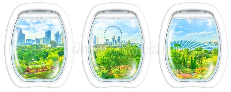 Иллюминаторы обрамляют на парке Сингапура стоковое изображение rf