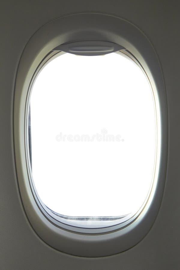 Иллюминатор пустого воздушного судна стоковые изображения rf