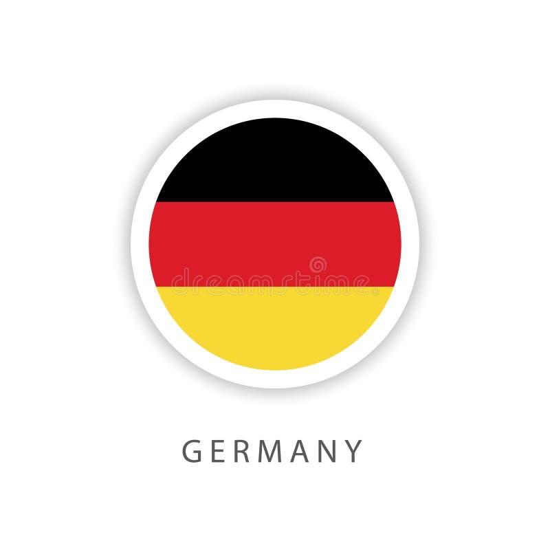 Иллюстратор дизайна шаблона вектора флага кнопки Германии иллюстрация вектора