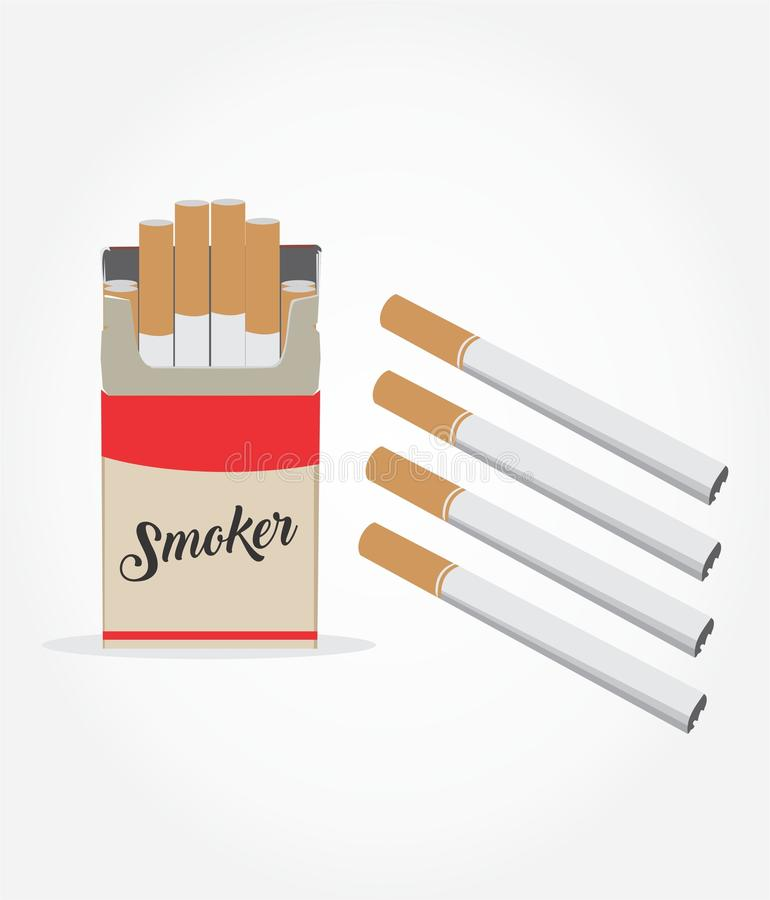 Иллюстратор значка сигареты стоковое изображение rf