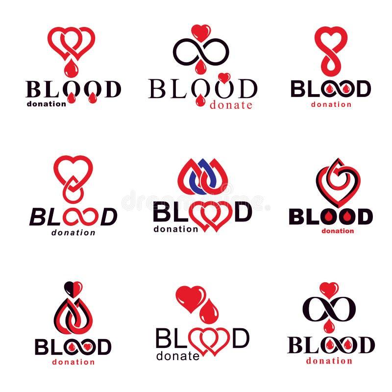 Иллюстрации вектора создались на теме донорства крови, переливании крови и метафоре циркуляции Вектор реабилитации схематический иллюстрация вектора