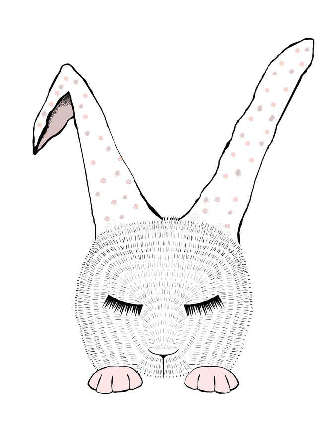 Иллюстрации bunnie спать стоковые изображения rf