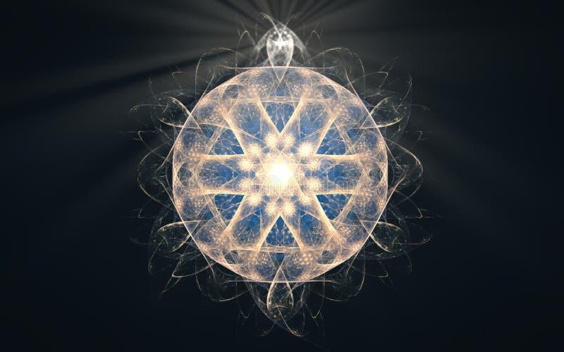 Иллюстрация абстрактного символа в форме геометрической диаграммы в форме руля с 6 вязать иглами дальше иллюстрация штока