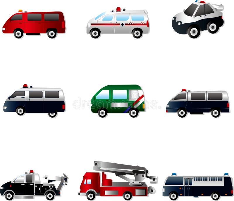 иллюстрация автомобиля различная печатает вектор на машинке бесплатная иллюстрация