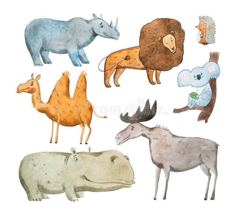 Иллюстрация акварели aquarelle животных нарисованного рукой бесплатная иллюстрация