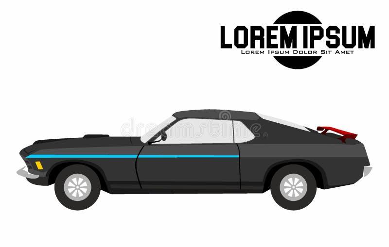 Иллюстрация американского черного автомобиля мышцы стоковая фотография