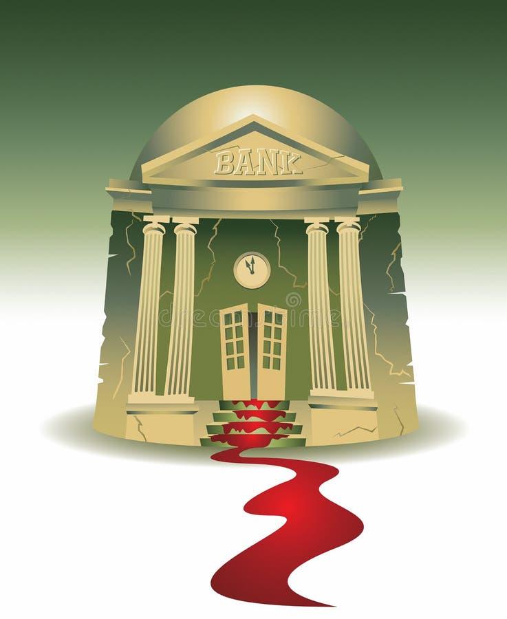 Иллюстрация банка маленького города кровотечения бесплатная иллюстрация