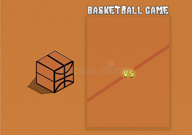 Иллюстрация баскетбольного матча, обои стоковые изображения rf