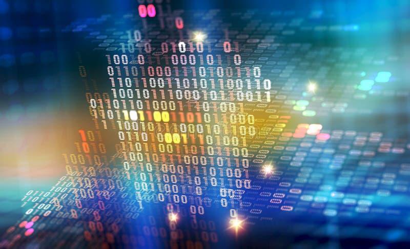 Иллюстрация бинарного кода 3D Защита данных цифров бесплатная иллюстрация