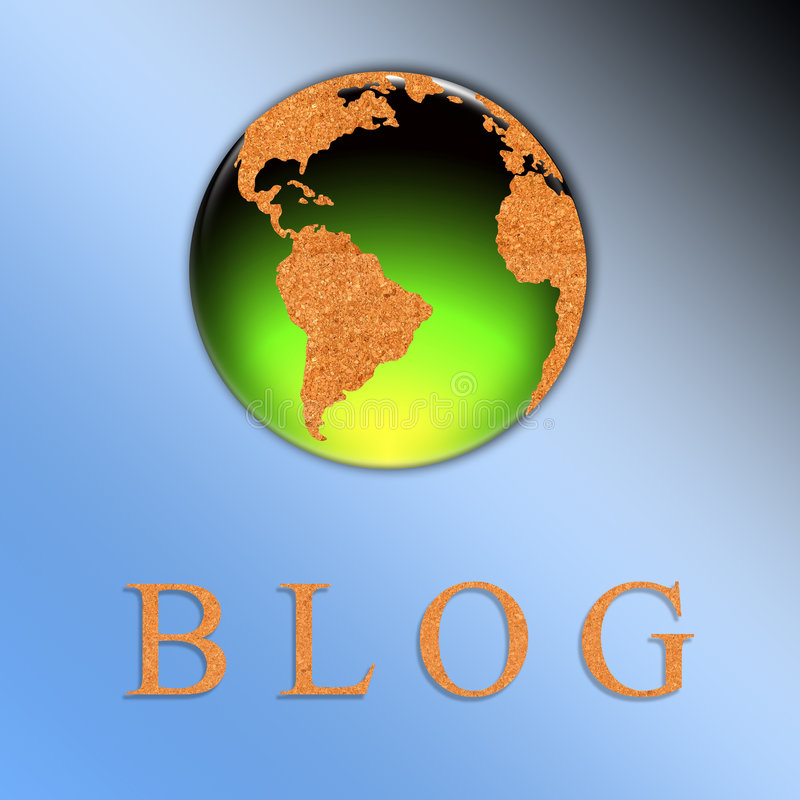 иллюстрация блога иллюстрация вектора