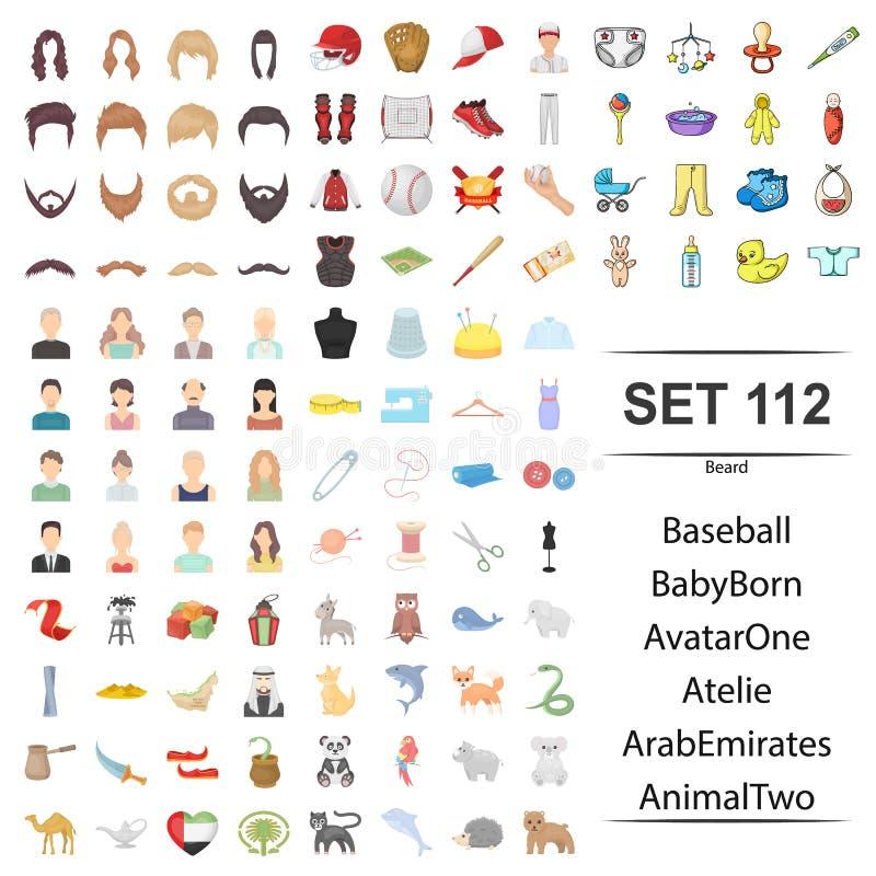 Иллюстрация бороды, бейсбол вектора, младенец, рожденный, воплощение, набор значка арабских эмиратов atelie животный иллюстрация штока